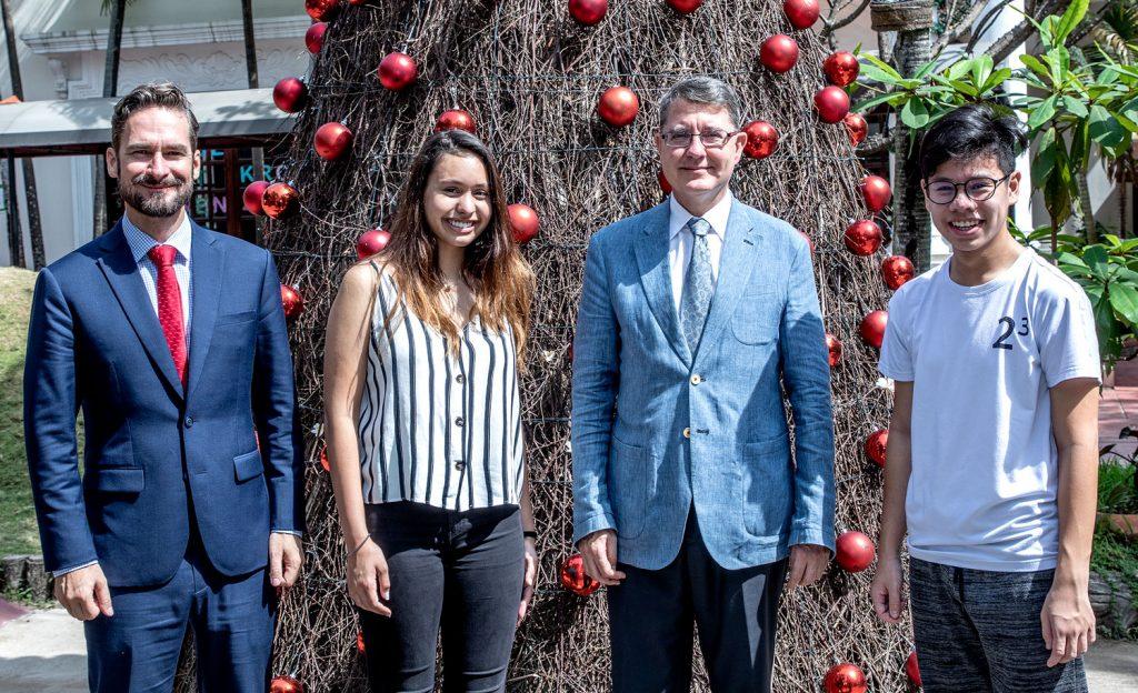Besuch des östereichischen Botschafters an der IGS HCMC