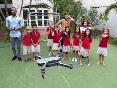 IGS art lesson drone flight