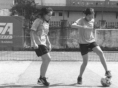 Mädchenfussball an der IGS HCMC