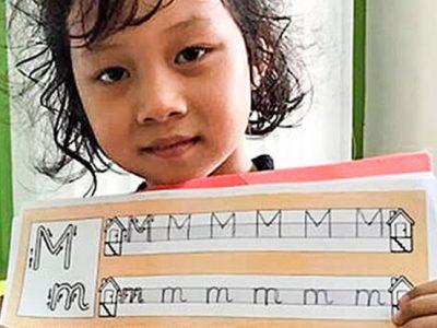 Schreiben lernen in Klasse 1,IGS HCMC