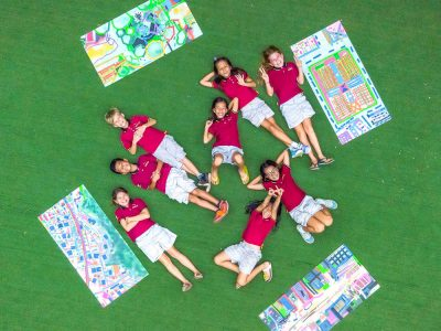 IGS art lesson drone flight