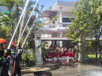 Feuerwehrübung an der IGS_HCMC