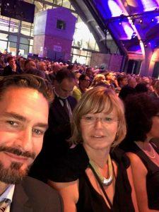 Schulleiter Dirk Thormann, Beauftragte der SBH Birgit Domröse auf dem Weltkongress Deutscher Auslandsschulen 2018 Berlin