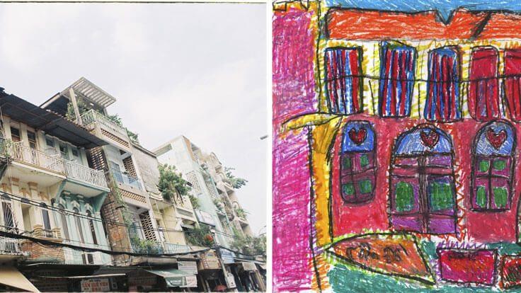Saigon abstrakt