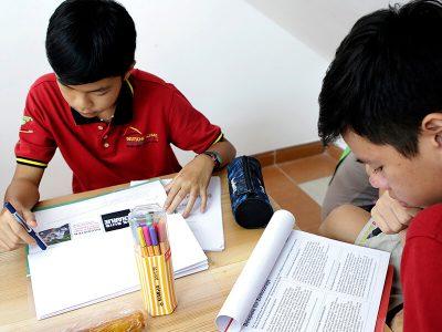 Zwei Schüler bei Projektarbeit