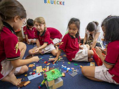 Bastelaktion der Vorschule/ Grundschule