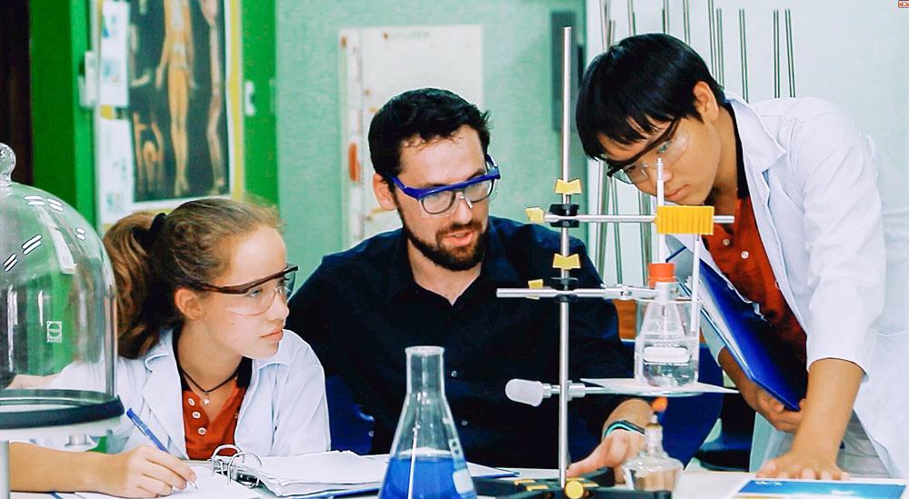 Chemieunterricht an der IGS