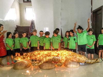 Rocco the crocodile made by IGS HCMC, Grade1