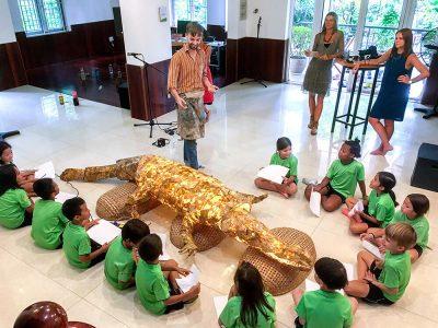 Rocco the crocodile made by IGS HCMC, Grade1
