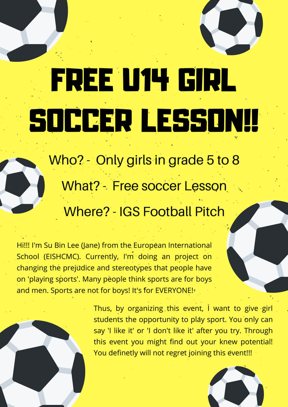 Girls Soccer Lessons