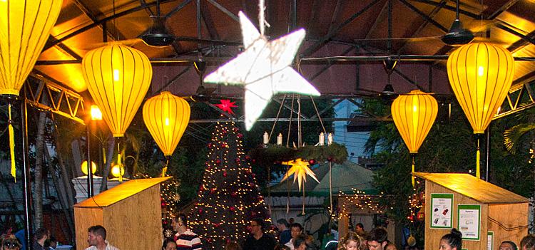 Weihnachtsmarkt auf dem IGS-Campus 2016: Dekoration