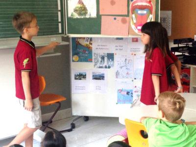 Primarstufe: Präsentation von Schülern