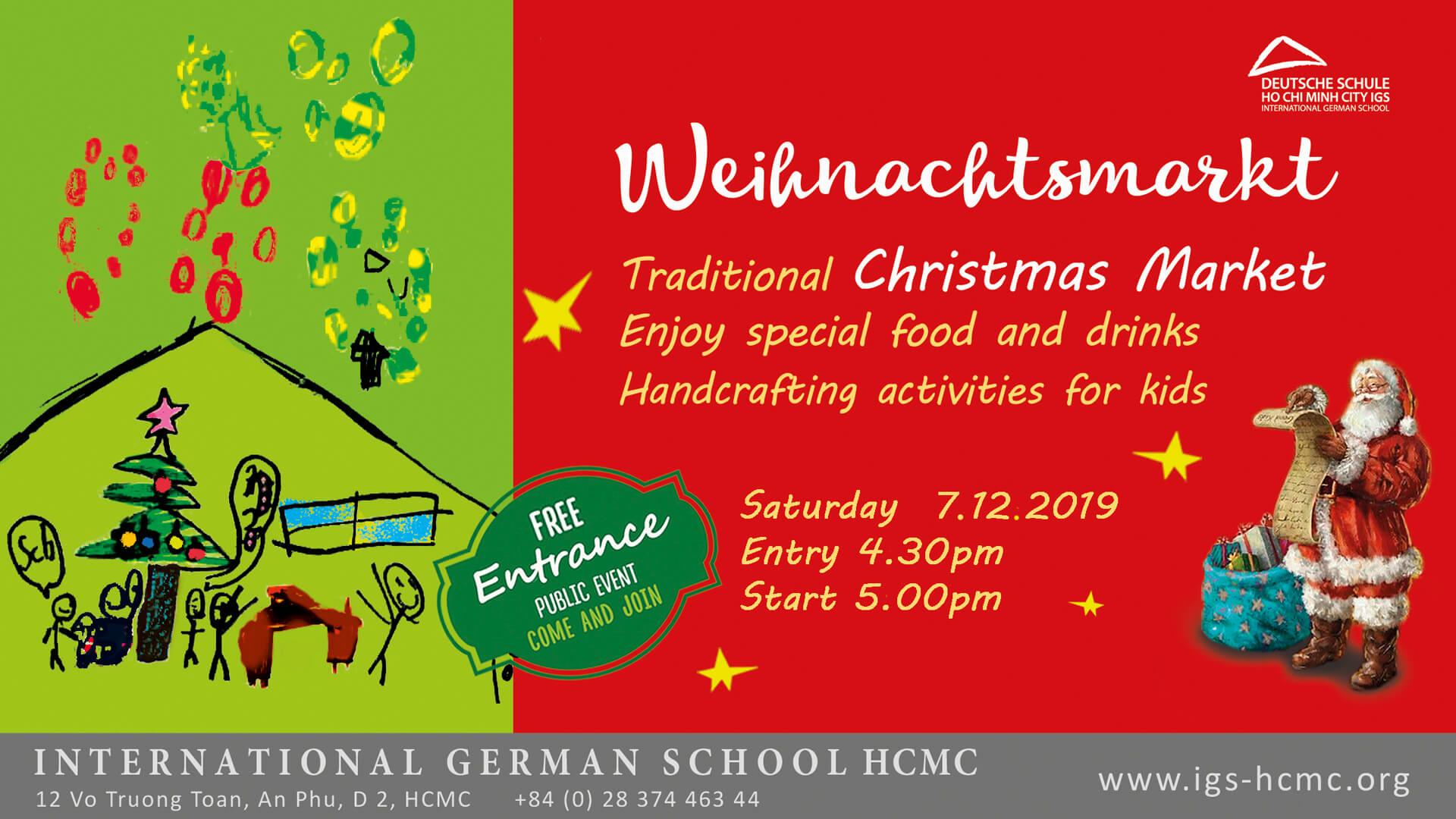Weihnachtsmarkt 2019 an der IGS-HCMC